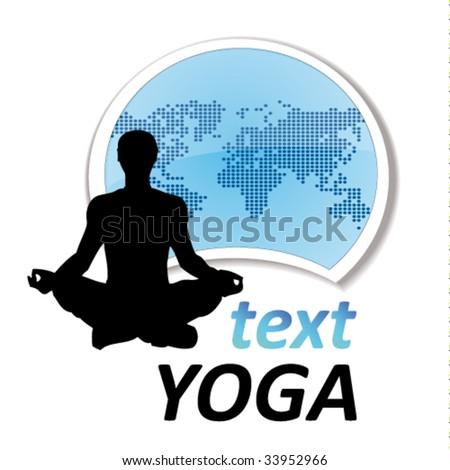 yoga sign #6 - stock vector
