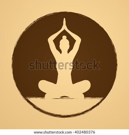 Yoga Sitting pose graphic vector.