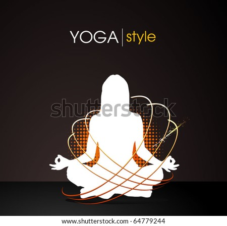 yoga style - vector poster - stock vector