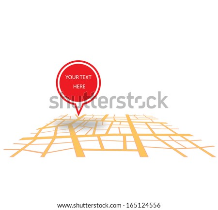 You are here vector design isolated on white background  - stock vector