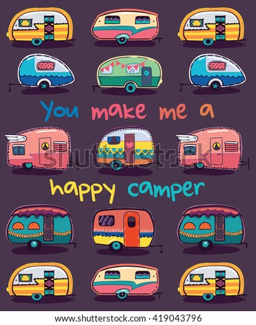 You make me a happy camper card. Happy Camper Card