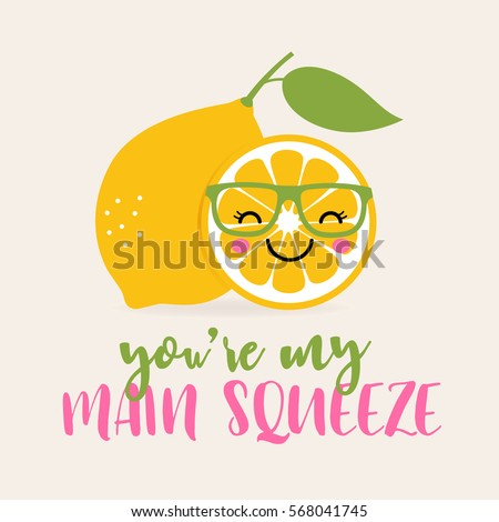 youre my main squeeze typography cute stock vector royalty free