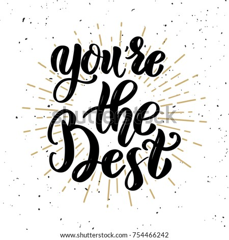 youre best hand drawn motivation lettering stock vector royalty