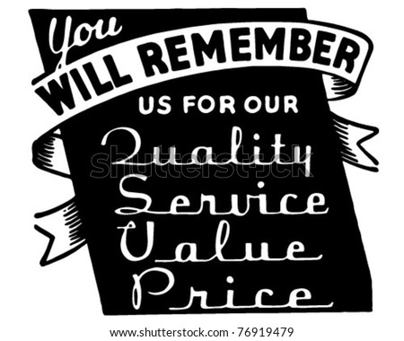 You Will Remember - Retro Ad Art Banner - stock vector