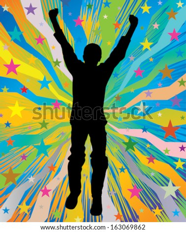 Young and happy - stock vector