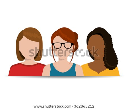 Young business people - stock vector