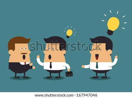 Young businessman get the big idea, Business concept - stock vector