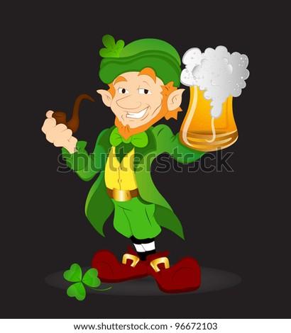 Young Leprechaun-St. Patrick's Day Cartoon Vector Illustration - stock vector