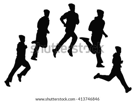 Young man doing jogging on the street