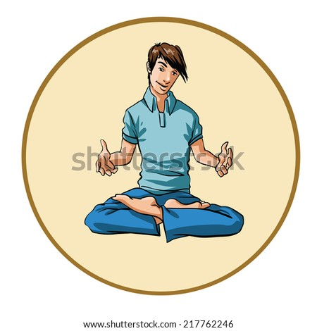 young man gesturing - stock vector