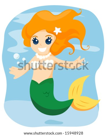 Young Mermaid - Vector
