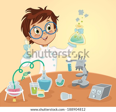 Young Scientist - stock vector