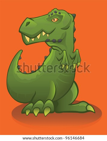 Young T Rex - vector - stock vector