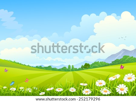 Young Tree in sunrise - stock vector