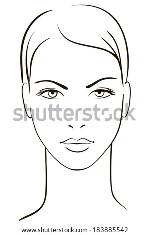 Young woman face - stock vector