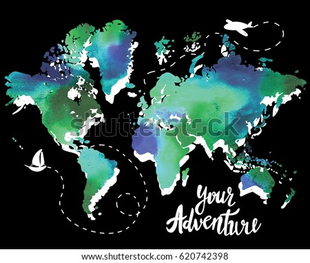 Your adventure drawing by hand childrens stock vector 620742398 your adventure drawing by hand childrens drawingight colorful drawing world gumiabroncs Images