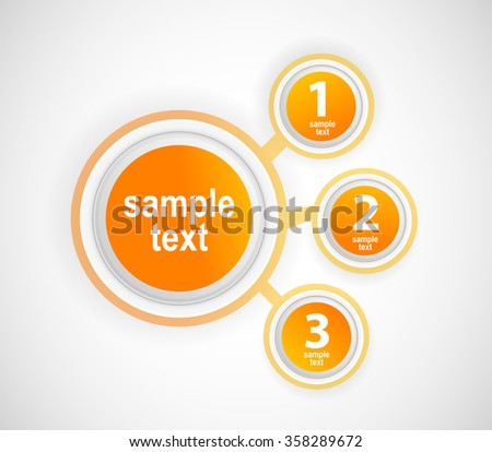 Your choice. Info graphic button. Flat illustration. Three button.  - stock vector
