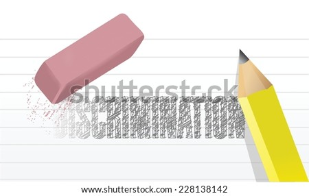 your discrimination erase illustration design over a white background - stock vector