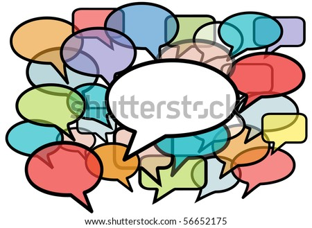 Your message is heard above social media network noise in speech bubble copy space background. - stock vector