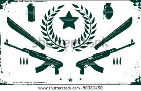 Your very own rebel weapon set - stock vector