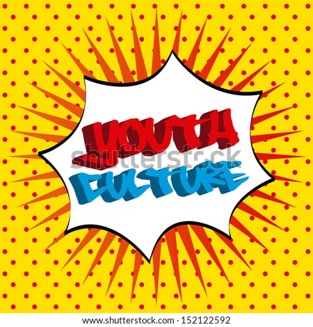 youth culture over dotted background vector illustration - stock vector