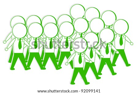 youth walk form the arrows - stock vector