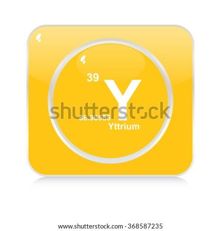 Yttrium Chemical Element Button Stock Vector 368587235 Shutterstock