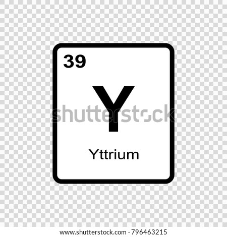 Yttrium Chemical Element Sign Atomic Number Stock Vector 796463215