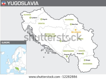 Yugoslavia - stock vector