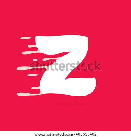 Z letter logo made of milk. Vector design template elements for your poster or corporate identity. - stock vector