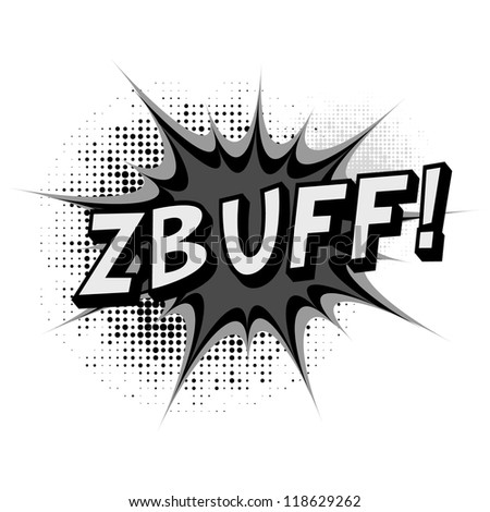 Zbuff. Comic book explosion. - stock vector