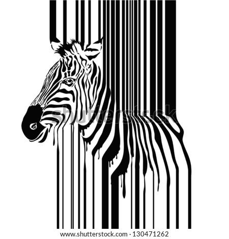 Zebra barcode vector illustration - stock vector