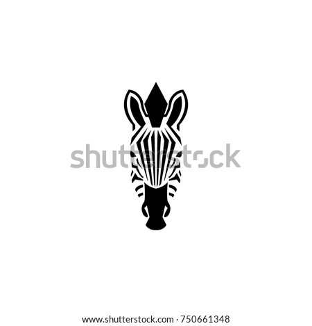 Zebra head logo negative space style stock vector 750661348 zebra head logo negative space style illustration front view silhouette african zebra portrait striped black pronofoot35fo Gallery
