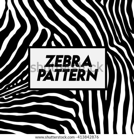 Zebra pattern. - stock vector