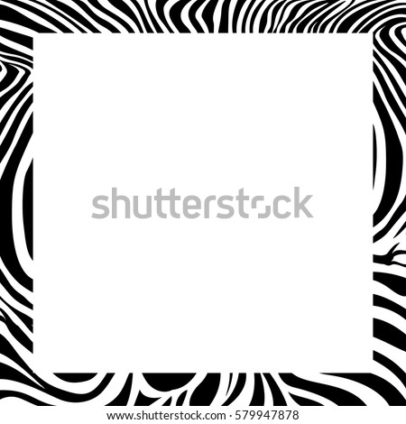 Zebra print border frame design animal stock vector 579947878 zebra print border frame design animal skin texture vector illustration savannah animal voltagebd Choice Image