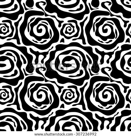Zebra seamless pattern. Safari collection. Abstract background. Black roses. Backgrounds & textures shop. - stock vector
