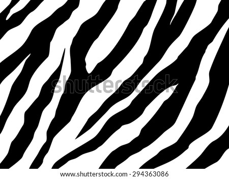 zebra skin background - stock vector