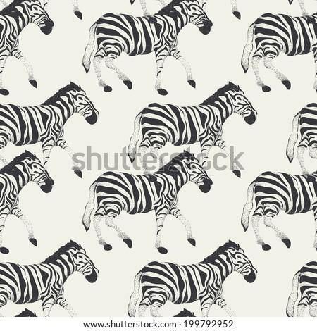 zebra vector seamless pattern , Eps 10 - stock vector