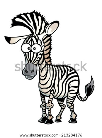 Zebra with a Mohawk - stock vector