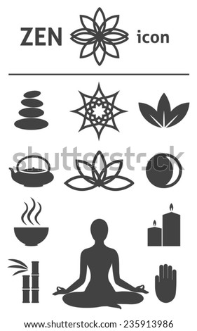 Zen icon. Buddhism, zen philosophy  - stock vector