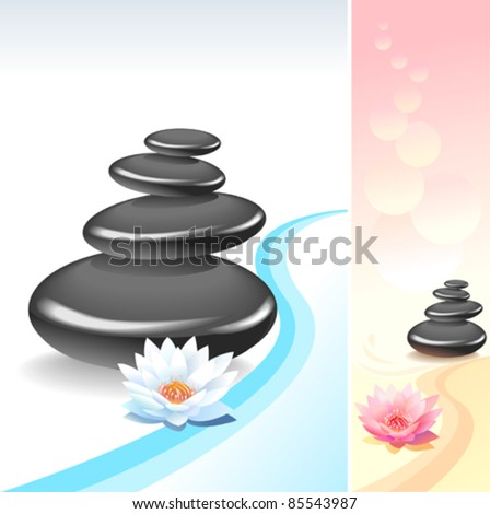 zen spa health wellness ambiance stock vector 85543729. Black Bedroom Furniture Sets. Home Design Ideas