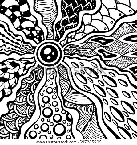 zendoodle coloring pages free | Zen Tangle Zen Doodle Abstract Texture Stock Vector ...
