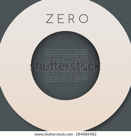 Zero : Numeral Graphic in Overlapping Element : Vector Illustration - stock vector