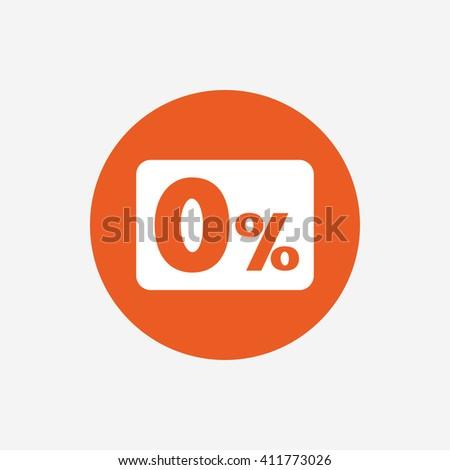 zero percent sign icon zero credit stock vector 485610544 shutterstock. Black Bedroom Furniture Sets. Home Design Ideas