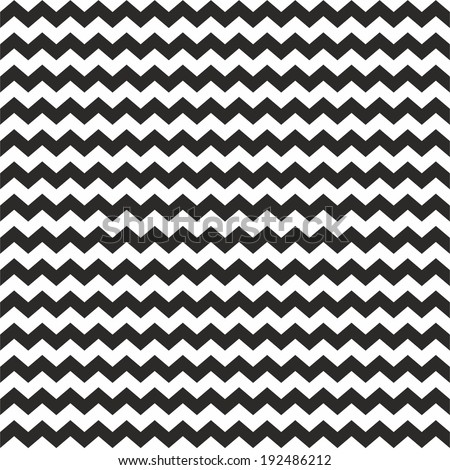Zig zag vector chevron black and white tile pattern - stock vector