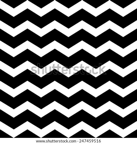Zigzag chevron grunge black pattern background - stock vector