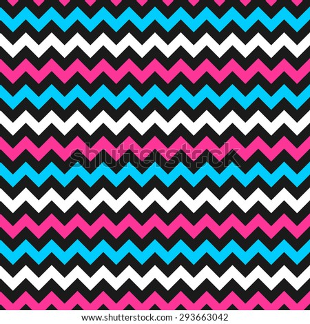 Zigzag color pattern - vector seamless background. - stock vector