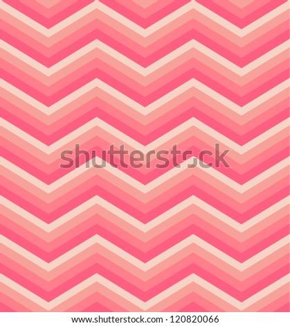 Zigzag seamless pattern. Colorful chevron ornament. Vector illustration - stock vector