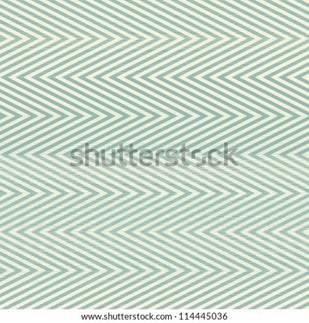 zigzag seamless pattern in retro blue - stock vector