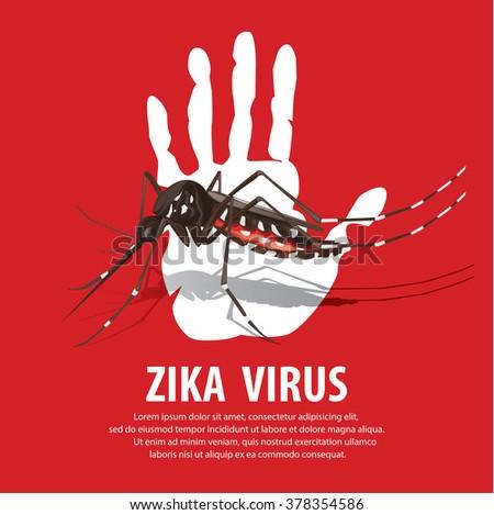 zika virus - stock vector